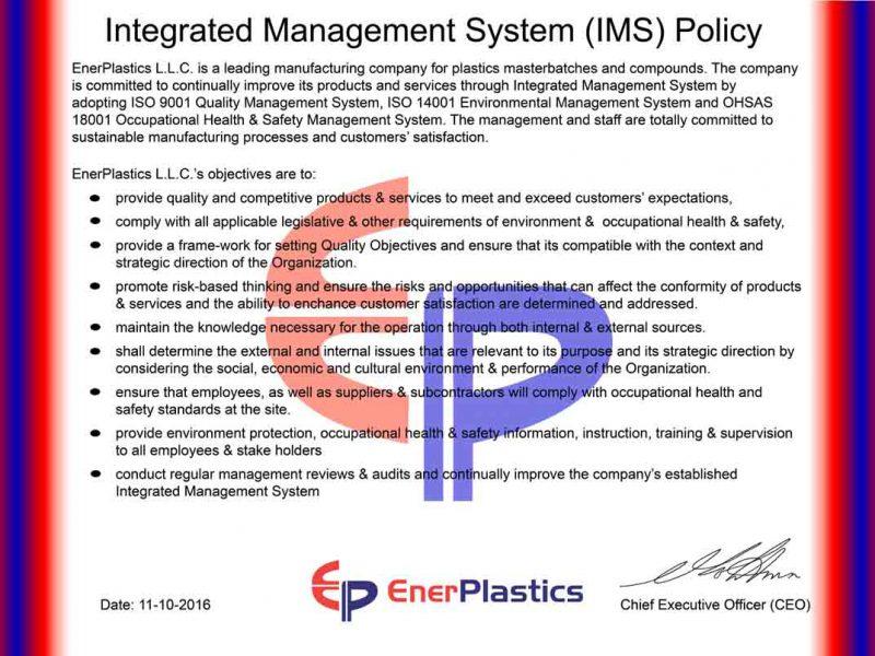 IMS Policy EnerPlastics